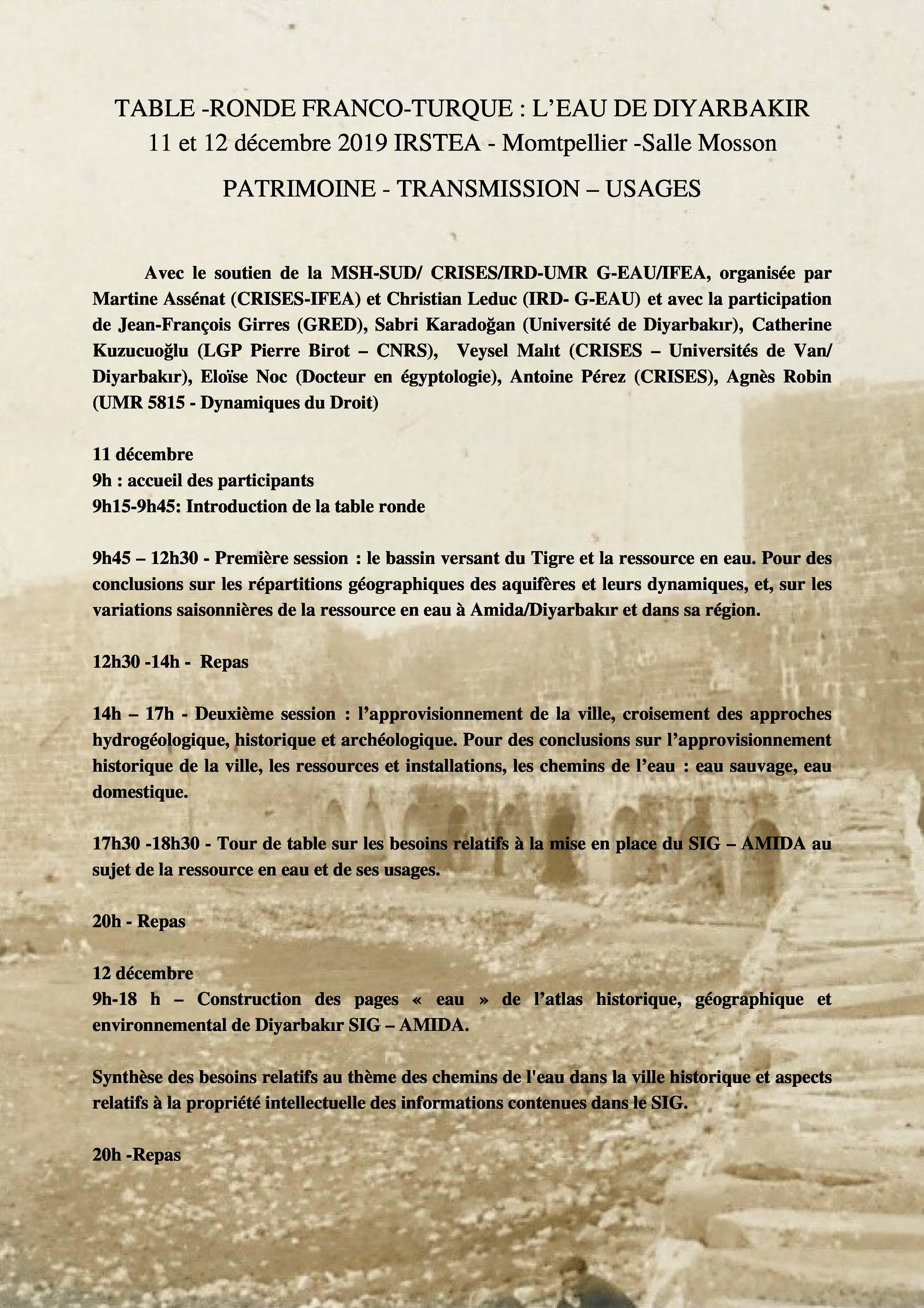 Programme table-ronde franco-turque 2019 eau_de_diyarbakir